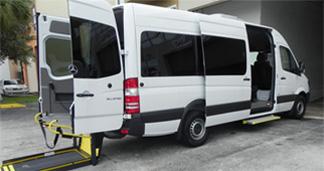 Commercial wheelchair vans, ada van, ada sprinter, paratransit, sts, service
