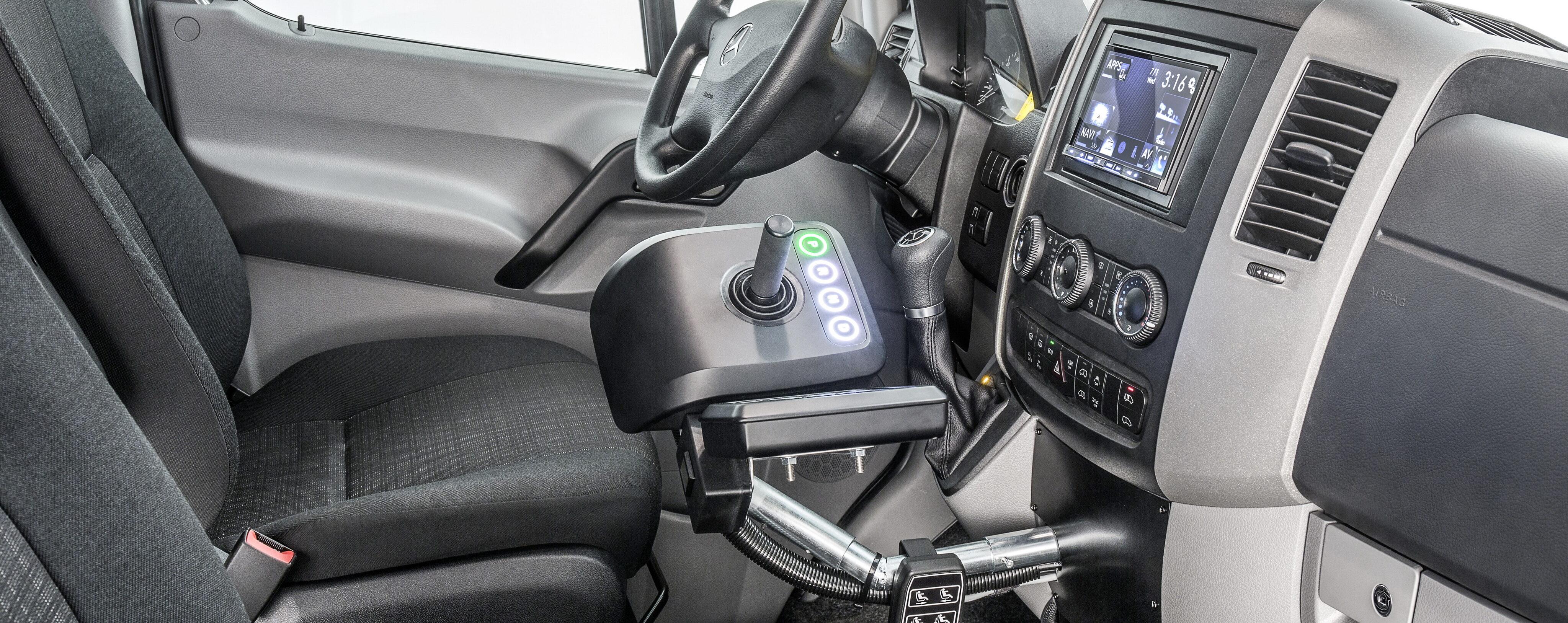 joystick driving, wheelchair van, paravan, sprinter